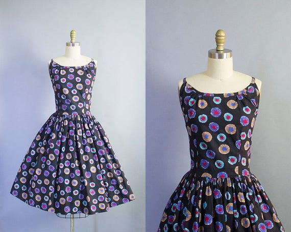 1950s Novelty Print Sundress/ Large (39b/33w)