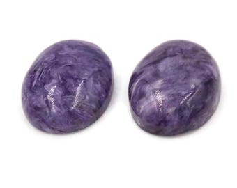 Charoite Cabochon Pair