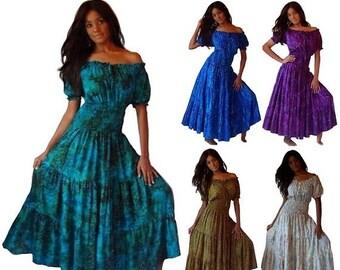 Batik maxi dress  Etsy