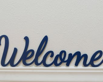 "Welcome sign #4 - Metal sign - 23"" - (GG9l--)"