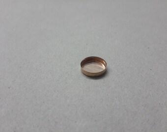 10 mm Rose goldfilled bezel cup