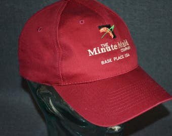 Vintage Minute Maid Company Employee Snapback Baseball Cap Hat (One Size Fits All)