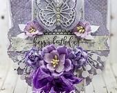 Shabby Chic Happy Birthday Butterfly Doily Card