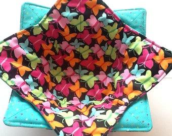 Microwave Bowl Cozy - Pastel Butterflies