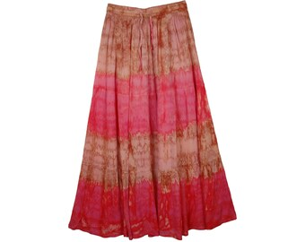 Drawstring Skirt in Marble Tie Dye