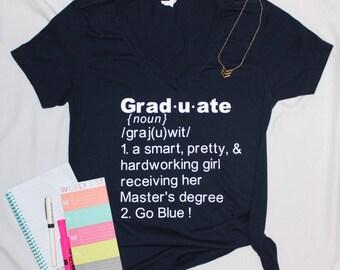 Graduate V Neck Tee