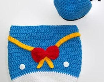 Donald Duck Baby, Crochet Newborn, Cocoon Baby, Gifts to Crochet, Baby Boy Pattern, Baby Crochet Pattern