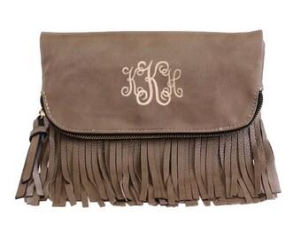 Fashion crossbody fringe handbag
