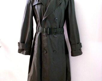 Military trench coat | Etsy
