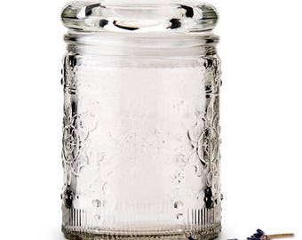 Pressed Glass Mason Jars (Pack of 6) Rustic Country Wedding Favors