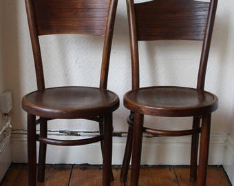 Set of two or four Vintage Bentwood 'Penny' Chairs