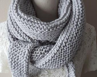 Supersoft shawl, grey
