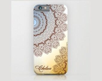 Custom Device case for iPhone 5/5s, iPhone 6/6s, iPhone 7 / 7s, Samsung, Galaxy, Phone, Monogram, Mandala, Custom, Classic, Gift, Christmas