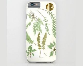 Custom Device case for iPhone 5/5s, iPhone 6/ 6s, iPhone 7/ 7s, Samsung, Galaxy, Phone, Fern, Botanical, Custom, Nature, Gift, Christmas