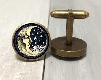 Moon and Stars Cufflinks