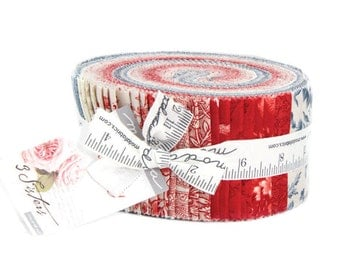Snowberry Jelly Roll by 3 Sisters for Moda
