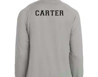 Basketball shooting shirt, long sleeve - customizable with your name on back