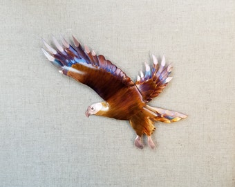 Eagle, flame painted copper, wall hanging