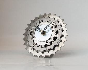 Metal Clock, Metal Wall Clock, Industrial Clock, Unique Bike Clock, Modern Clock, Metal Desk Clock, Metal Steampunk Clock, Bicycle Clock