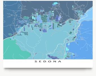 Sedona Map Print, Sedona Arizona, City Map Art Prints