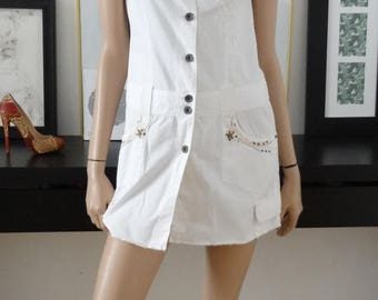 Robe blanche KAPORAL jean blanc taille 36 - uk 8 - us 4