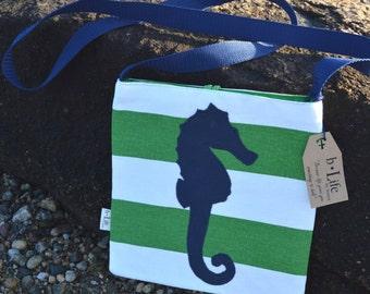 Nautical Seahorse Crossbody Bag, Handbag