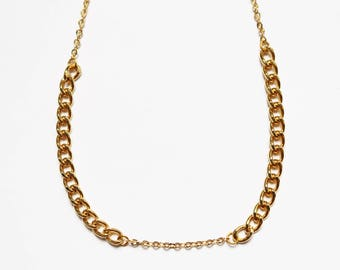 Tipsy 24K Gold Plated Choker - Gold Necklace - Gold Chain - Layering Necklace