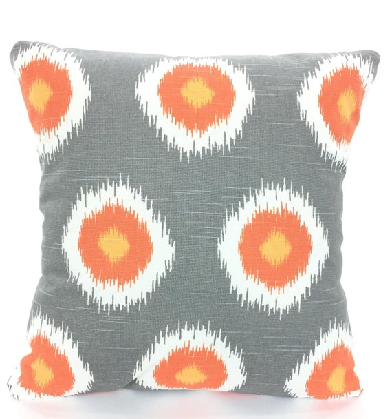 sale orange gray pillow covers decorative throw pillows. Black Bedroom Furniture Sets. Home Design Ideas