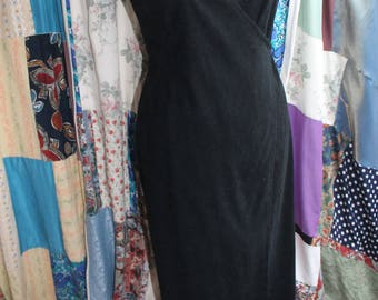 Long Wrap around fitted dress REF 567