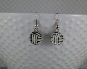 Volleyball Earrings - Fish Hook - FREE SHIPPING