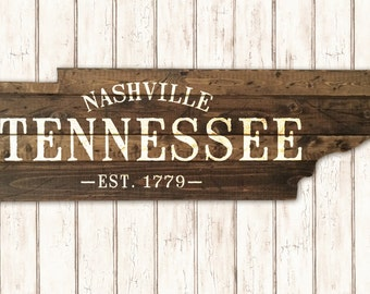 Tennessee State Cut Out - Established City