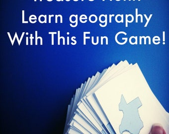 United States Game, Geography Treasure Hunt, Educational Scavenger Hunt, State Scavenger Hunt, State Capital Game, Educational Party Game