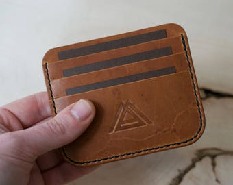 Slim Wallet, Credit Card Holder, Leather Wallet, Minimalist Wallet, Mens Leather Wallet, Horween Leather, Cash Wallet, Card Holder Wallet
