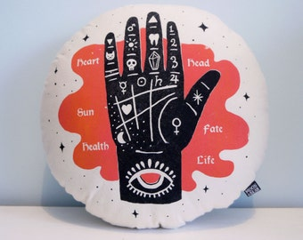 Create Your Fate Cushion, Decorative Cushion, Handmade Printed Cushion, 35cm x 35cm, 100% Cotton with Polyester Filling