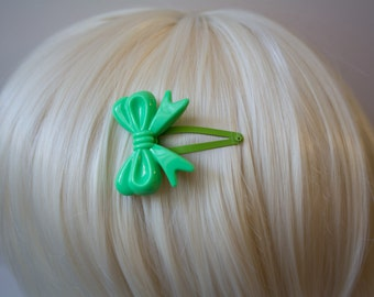 Green Lolita Bow Hair Clips