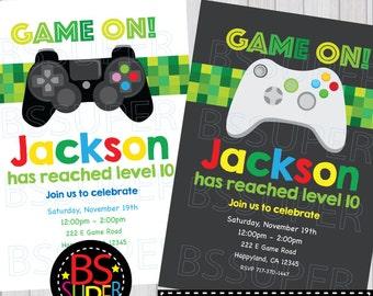 VIDEO Game Birthday Party Invitation ARCADE Game Birthday - Birthday party invitation videos