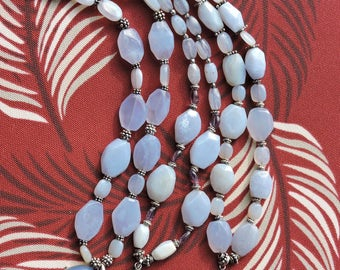 Chalcedony and Sterling Necklace