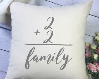 Custom Family Pillow Cover - Family Pillow - Gifts for Mom - Family Number Pillow - Number Pillow - Gifts for Family - Gifts under 40