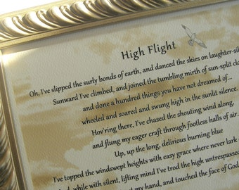 Exceptional image throughout high flight poem printable
