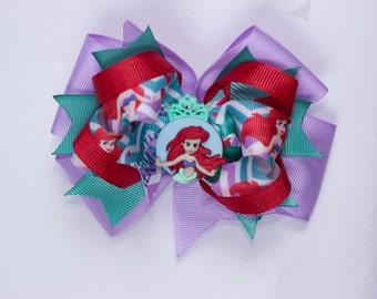 Girl hair bow, Girl Ariel hair bow  Girl Princess hair  bow,  Ariel hair bow, Girl Little Mermaid  hair bow,  Girl hair bow Girl hair bow