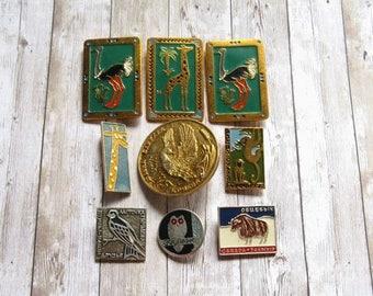 Zoo Pins, Wild Animal Pins, Zoo Brooches, Animal Lover