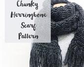 Chunky Herringbone Scarf Pattern