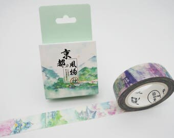 Kyoto in the Spring Japanese washi tape! spring washi tape, cherry blossom washi tape, sakura masking tape, floral springtime washi tape