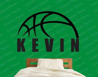 Personalized Basketball Wall Decal - Customized with your family, team or kid's name!
