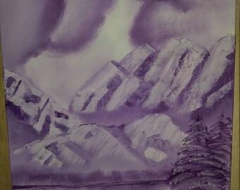 Purple Winter Mountains