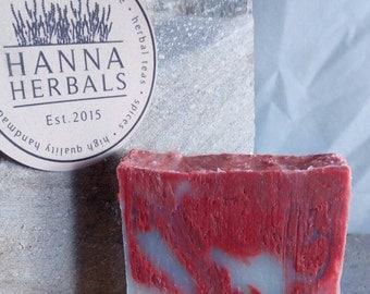 French Lavender and Red Clay Soap - Australian Red Clay Soap - Cold Processed Soap - 4 ounce soap - bar soap