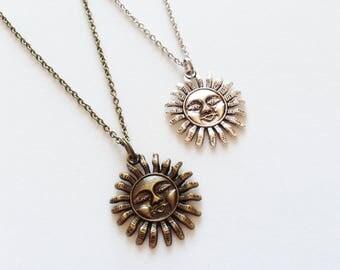 SUN Necklace Sun Jewelry Krishna Necklace Krishna Jewelry Krishna Gift Summer Jewelry Summer Necklace Argentina Gift Sun Pendant Sun Charm