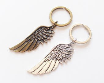 ANGEL WINGS Keychain Angel Wings Keyring Wings Lanyards Wings Gift Bird Lovers Gift Bird Keychain Bird Keyring Big Wings Charm Angel Wings