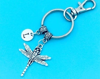 Beautiful Dragonfly Keychain, Dragonfly Key Chains, Custom Any Charm, Dragonfly Keyring, Personalized Keychain, Dragonfly Key Rings, Insect