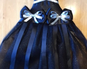 Black and Silver Tutu Bow Holder